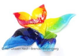 Abstracte kleurige glas bloem