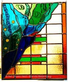 "Glas in lood raamhanger ""twee stijlen"""