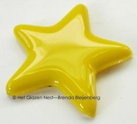 geel sterretje als ornament