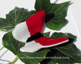 Rood en witte vlinder