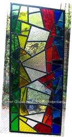 """Glas in lood raamhanger """"Boekenstapel"""""""