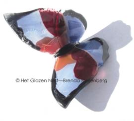 Glazen vlinder in lila variaties