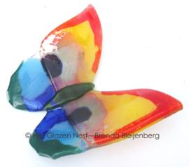 Glazen vlinder in bonte kleuren