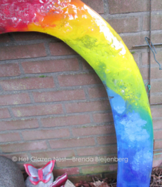 Grote regenboog in abstracte kleuren