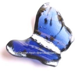 vlinder in blauw, zwart en wit