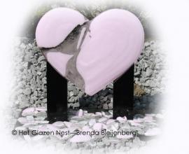 """sculptuur """"gebroken hart"""""""