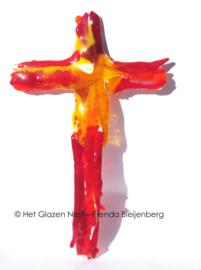Kruis in rood en oranje