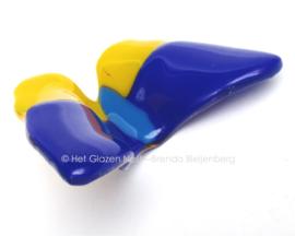 vlinder in geel en blauw