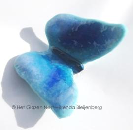 Klein blauw en aqua vlindertje