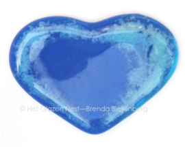 Blauw hartje met zeeblauwe slingers