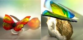Twee wenskaarten met vlinders I