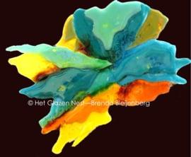 grillige vorm in zachte kleuren