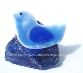 kleine blauwe vogel