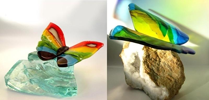 Twee wenskaarten met vlinders M