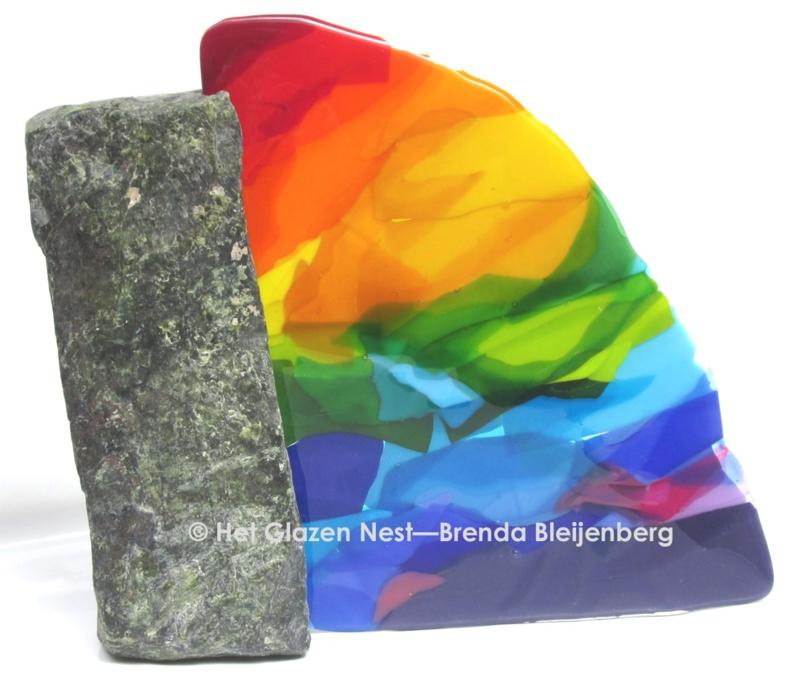 abstracte regenboog kleuren in glas