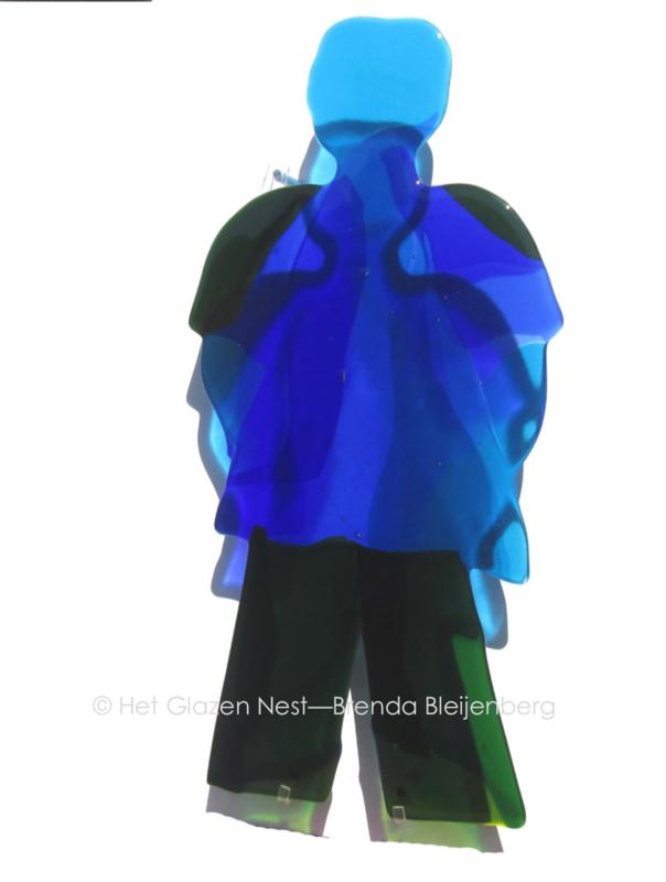 "sculptuur ""blauwe man"""