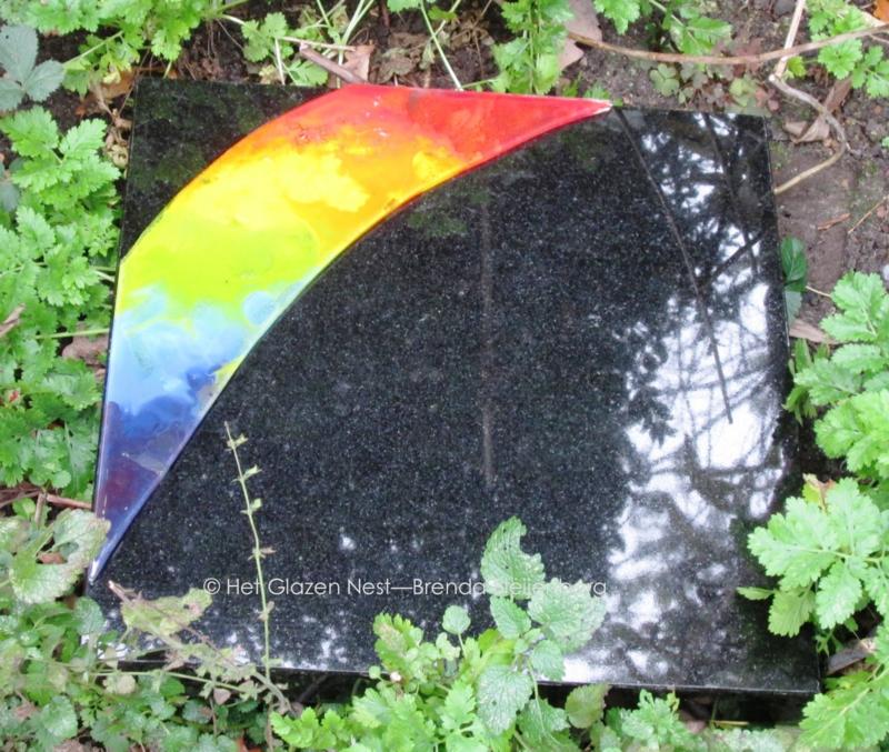 Regenboog in glaskunst