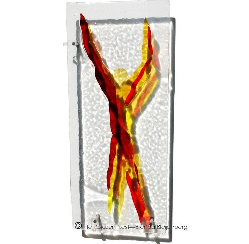 """glassculptuur """"rode man"""""""