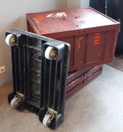 4x verhuisbox (inklapbaar) incl. onderwagen
