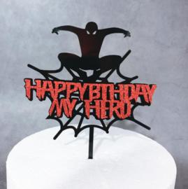 Acryl topper Happy birthday my hero
