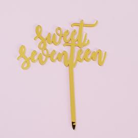 Acryl topper Sweet seventeen