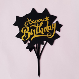 Acryl topper Happy birthday
