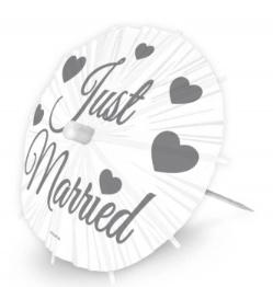 Just Married parasollen ( 2 stuks) GROOT