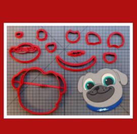 3-D uitsteker hondje ( 5 en 7,5 cm)