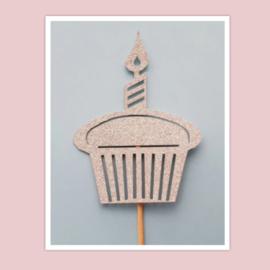 Topper cupcake (papier/karton)