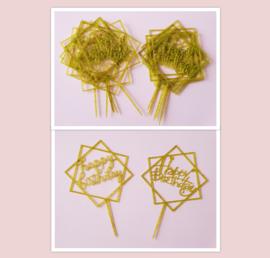 Aanbieding acryl topper set ( 10 stuks)