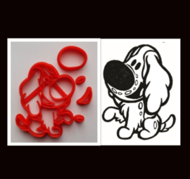 3-D uitsteker  hond ( 5 / 7,5 en 10 cm)