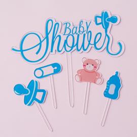 Acryl topper set Baby shower ( set van 5 stuks)