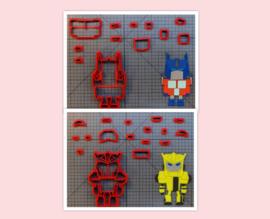 3-D uitsteker set   ( 2 x 7,5 cm)