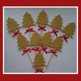 Toppers kerst ( vrij groot) 10 stuks