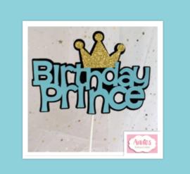 Partijtje Birthday Prince toppers ( 5 stuks)