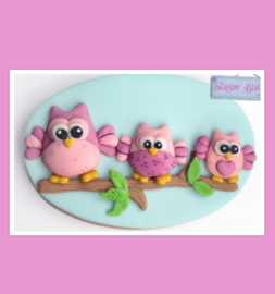 Owls Sugar buttons (Katy Sue)