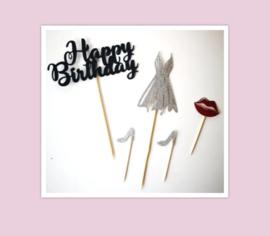 Happy birthday set ( 5 delig)