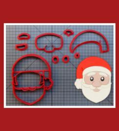3-D uitsteker kerstman ( 5 / 7,5 en 10 cm)