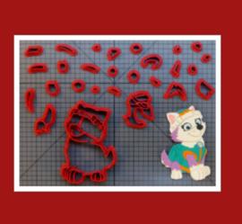 3-D uitsteker  ( 7,5 /10 en 12,5 cm)