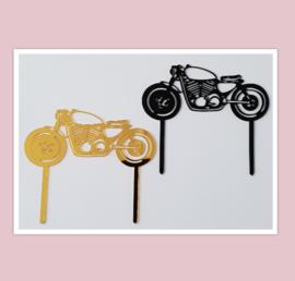 Acryl topper motor ( zwart en goud)
