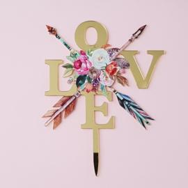 Acryl topper Love ( vrij groot)