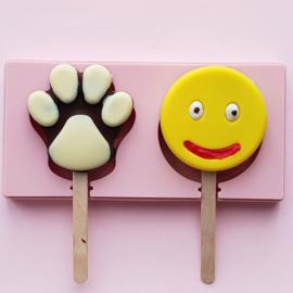 Cake/ijs mold smiley/hondenpoot