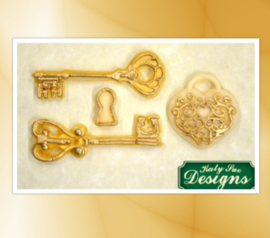 Keys and locket mold ( Katy Sue)
