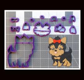3-D uitsteker hondje (7,5 / 10 en 12,5 cm)