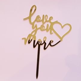 Acryl topper love you more