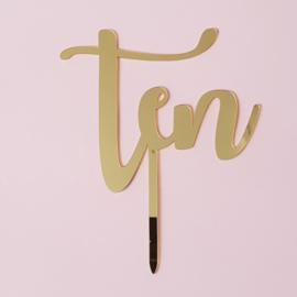 Acryl topper Ten