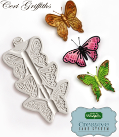 Butterfly trio mold ( katy Sue)