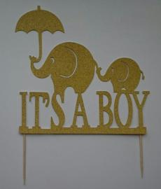 Topper (J) It's a boy   (papier/karton)