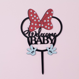 Acryl topper Welcome baby
