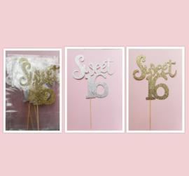 Aanbieding grote toppers  sweet 16 ( 10 stuks)